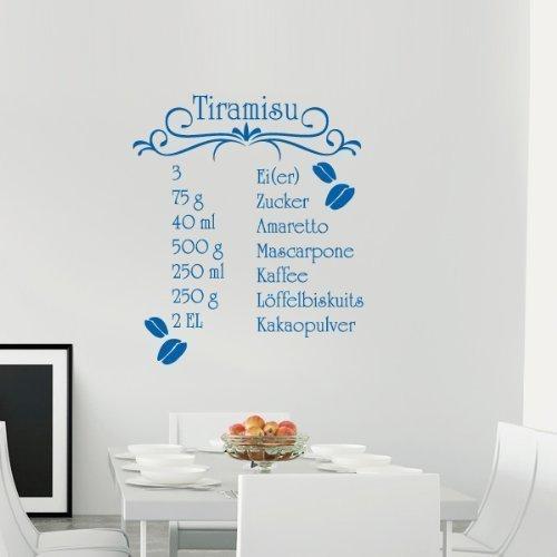 Your Design-Adesivo da parete Tiramisu, Genziana, 35 x 41 cm
