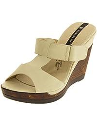 Footwear Studio Eisabeth Damen Braun Keilabsatz Sandalen EU 40