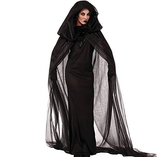 Erwachsene Für Kostüm Geist Gespenstische - ChenYi Halloween Kostüm Dekor Party Hexe Cosplay Kostüm Erwachsene Frauen Weihnachten Karneval Festival/Urlaub Terylene Karneval Weiblich Vintage,Black-XXL