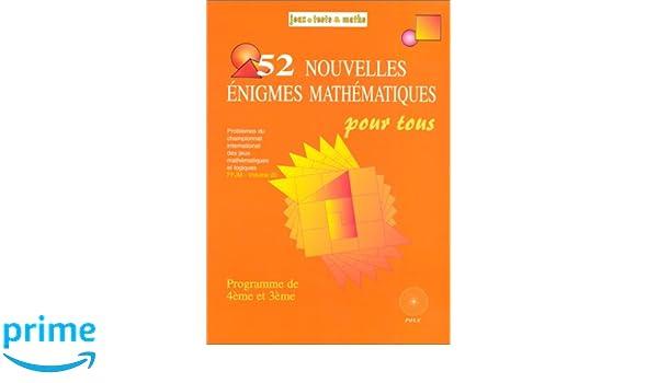 52 enigmes faciles 6e 5e