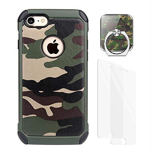 VELLYOU 3-en-1 Funda iPhone 7 Plus Camuflaje