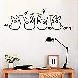 Suuyar Neue Cartoon Animation Vinyl Totoro Wandtattoos Für Kinderzimmer/Badezimmer Dekoration Nette Chinchilla Wandaufkleber