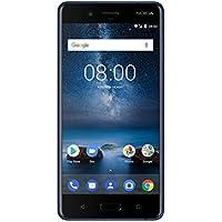Nokia 8 Smartphone débloqué LTE (Ecran : 5,3 pouces - 64 Go - Nano-SIM - Android) Bleu