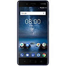 "Nokia 8 Single SIM 4G 64GB Blue - Smartphones (13.5 cm (5.3""), 64 GB, 13 MP, Android, 7.1.1, Blue)"