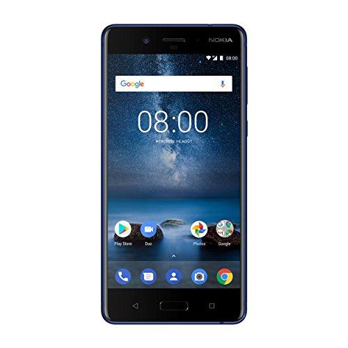 "Nokia 8 5.3"" Single SIM 4G 4GB 64GB 3090mAh Blue - Smartphones (13.5 cm (5.3""), 64 GB, 13 MP, Android, 7.1.1, Blue)"