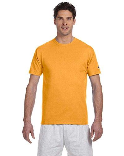 champion-t-shirt-etiquette-61-oz-jaune-large