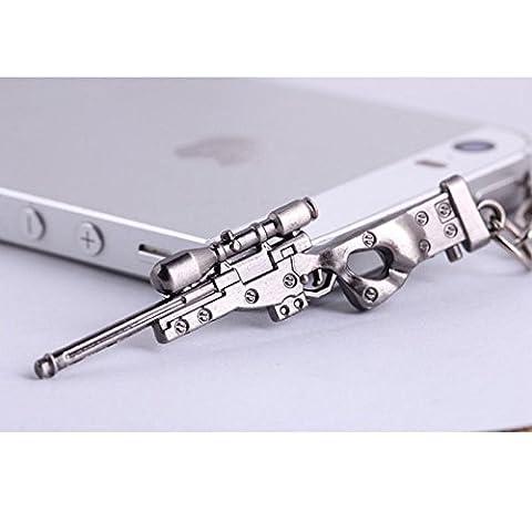 Schlüsselanhänger AWM sniper Rifle Scharfschützen Gewehr mit Kette und Schlüsselring