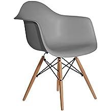 Aryana Home Eames Réplica - Sillón, 59 x 62 x 82,50 cm, color gris oscuro