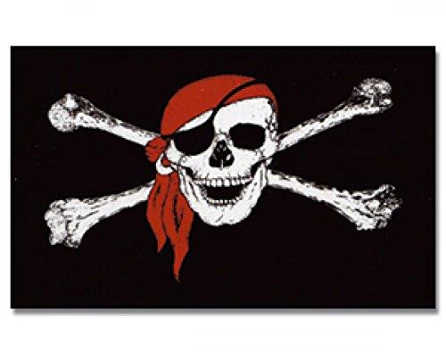 0 Polyester stabile Hissflagge #1 Bandana (Piraten Flagge)