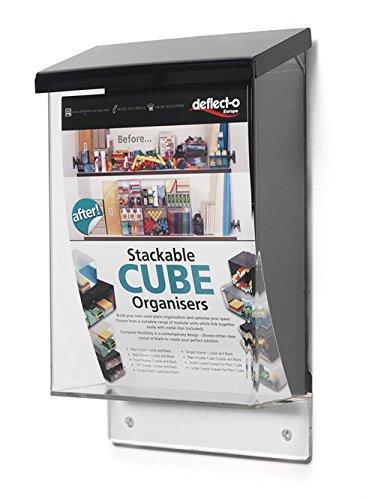 Deflect-o Prospektständer A5 für draußen, Transparent