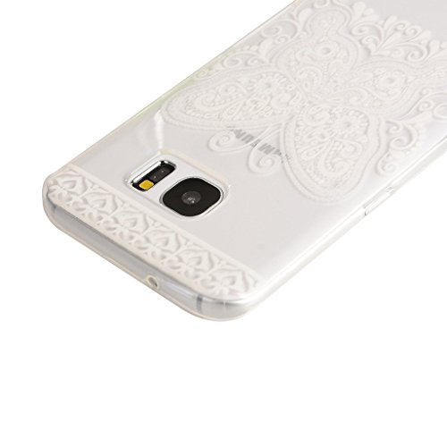 PowerQ Bunte Muster Serie Malerei Drucken Tasche TPU Hülle Etui Fall Case Cover < Sky Withered | für IPhone 6 6S IPhone6S IPhone6 >           Zeichnung weiche Silikon Abdeckung Handy-Fall Handy-Abdeckungs weich Lace butterfly