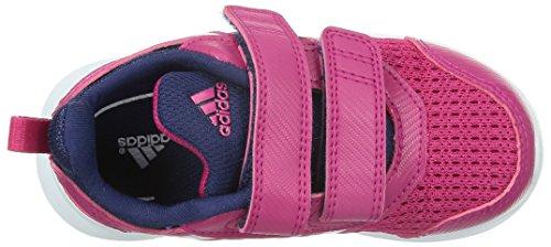 Chaussures De Course Filles Adidas Multicolore (fuchsia / Blanco / Gris)