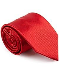 GENTSY ® Corbata Hecha a Mano para Hombre Ancho Estandar de 8 cm o Delgado 6 cm - Colores Solidos