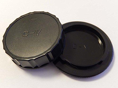 vhbw Objektiv Deckel Set mit CY-System für Kamera Contax, Yashica.