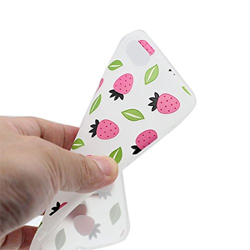 Custodia iPhone 7, Silicone trasparente Cartoon Stile del modello Case Con materiale di alta qualità & morbido & & Ultra sottile iPhone 7 copertura 4.7 Graffi Prova / anguria fragola
