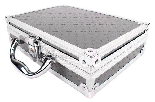 Preisvergleich Produktbild Widerstandsfähiger Koffer mit Aluminium-Design, geeignet für den Bosch Professional GLM 50 C Laser-Entfernungsmesser und Bosch PLR 25 Laser-Entfernungsmesser - mit INDIVIDUELL VERSTELLBAREM Schaumstoff