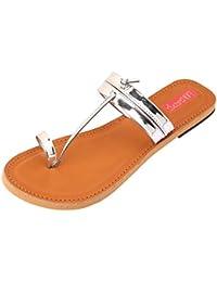 Footrendz Women's Apealing Metalic Faux Leather Flats