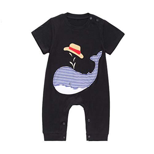 Knowin-baby body Cartoon Wal Kleinkind Kinder Baby Jungen Cartoon Print Strampler Outfit Kleidung Sommer Bodysuit Lässig Kleidung Süß Overall Kurzarm T-Shirt Weste Ärmellos Tops(0M-2T) (Süße Baby Shirts Für Jungen)