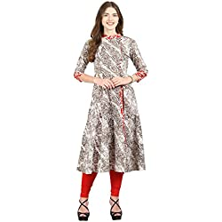 La-Firangi Women's Straight Kurta (STYLE685_off-white_Multicoloured_large)