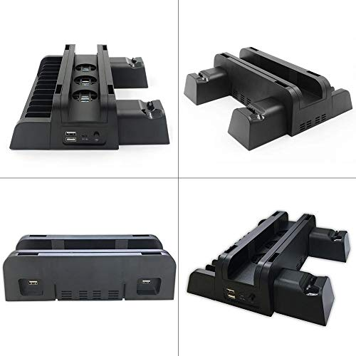 Yestter Kühlsockel geeignet für PS4 / Slim/PRO Base Multifunction Dreh Lüfter Lüfter Kühler + Hantelablage + Doppelkühlgerät -