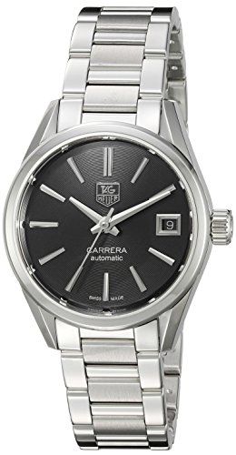 TAG Heuer Women's 'Carrera' Swiss Automatic Stainless Steel Dress Watch, Color:Silver-Toned (Model: WAR2410.BA0776)
