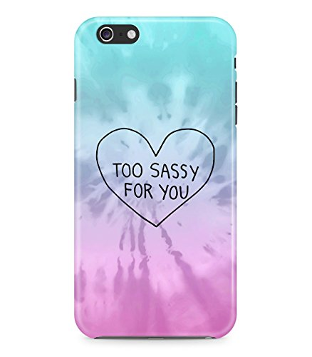 Rad Tie Dye Too Sassy For You Heart Colorful Hard Plastic Snap On Back Case Cover For Iphone 6 Custodia