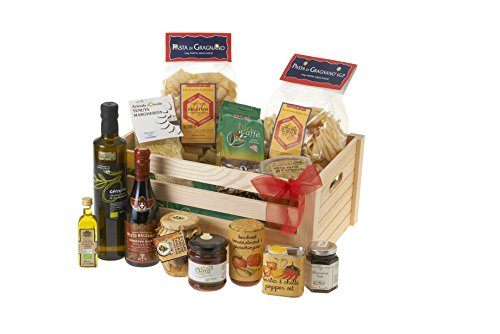 Italian Vegetarian Hamper, :Balsamic Vinegar from Modena 'Riccardo Giusti' (250ml), Porcini Mushroom Pat� (314g), Organic Arabica Fairtrade Coffee (250g), Extra Virgin Olive Oil (500ml), Garlic and Chilli Pepper Oil (175ml), Tomato and Basil Pasta Sauce (