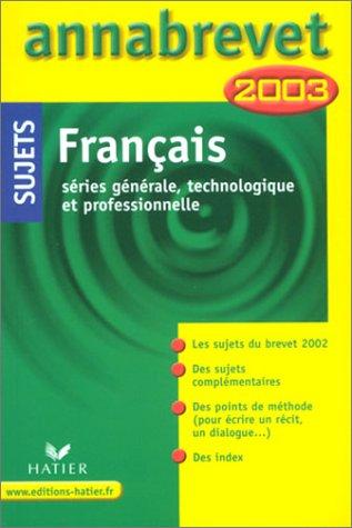 Français : Série générale, technologique et professionnelle