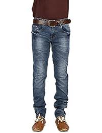 Infection Dark Blue Torn Jeans Slim Fit Jeans For Men (1 Jeans)