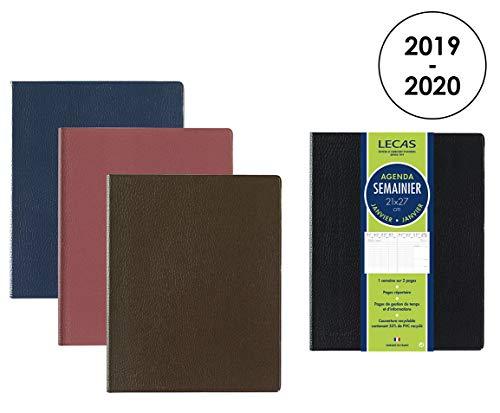 LECAS - 100738208 - Classique Agenda Semainier 2019 - 2020 de Juillet à Août Format 21 x 27cm Couverture Couleurs Aléatoires