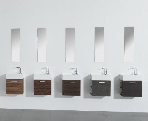 Gäste-WC Badmöbel Waschbecken mit Unterschrank und Ablagefächer