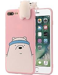 Pour iPhone 7Plus coloré Coque Dessin animé élégante, Y563d de dessin animé animaux mignon nous Bare Bears Coque souple en silicone pour iPhone 7Plus 14cm
