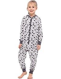 Amazon.es: Gris - Pijamas de una pieza / Pijamas y batas: Ropa