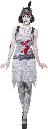 (Smiffys, Damen Zombie-Flapper Kostüm, Kleid und Haarband, Größe: S, 23213)