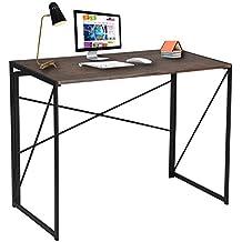 Diseño escritorio simple ordenador portátil mesa para casa y oficina estudio y escritura marrón escritorio