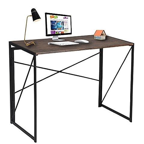 Bureau d'ordinateur Design Simple Table pour ordinateur portable pour la maison bureau d'étude et d'écriture Marron