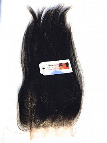 Tissage-extension - Lace closure cheveux brésilien lisse - 16 pouces