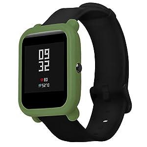 Logobeing Funda Completa para Huami Amazfit Bip Youth Watch Protección Suave de TPU de Silicona Smartwatch Protector 5