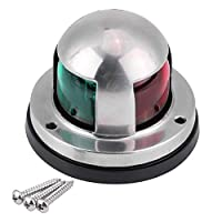 12V/24V LED Navigation Signal Light Marine Boat Stainless Steel Red and Green LED Navigation Signal Lamp Yacht Accessory Tools 9