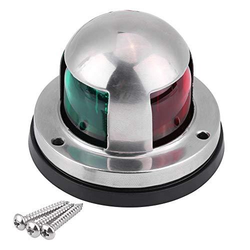 Focket Navigationslichter für Boote, 12 V / 24 V Edelstahl, rote und grüne LED-Navigationssignalleuchte mit Korrosionsschutz Yachtanzeigen, helle Lichtquelle für Schiffe, Yachten