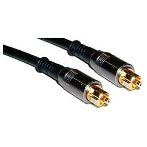 Cablematic - Audio numérique optique 30cm câble Toslink (T/T)