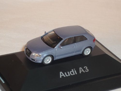 Audi A3 A 3 TÜrer 2005 Akoya Silber Grau Ho H0 1/87 Herpa Modellauto Modell Auto