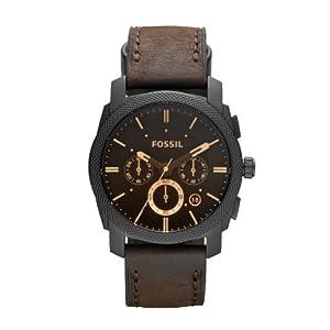 Reloj Fossil FS4656 de cuarzo para hombre con correa de piel, color marrón de FOSSIL