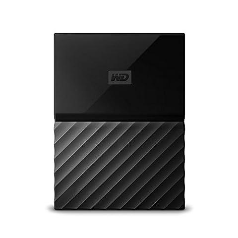 Mobile 1 TB-Festplatte WD My Passport WDBYNN0010BBK-WESN (schwarz), mit Kennwortschutz u. Software für autom.