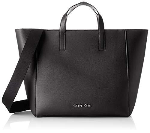 Calvin Klein Damen Strap Shopper Tote, Schwarz (Black), 15.5x31x41 cm
