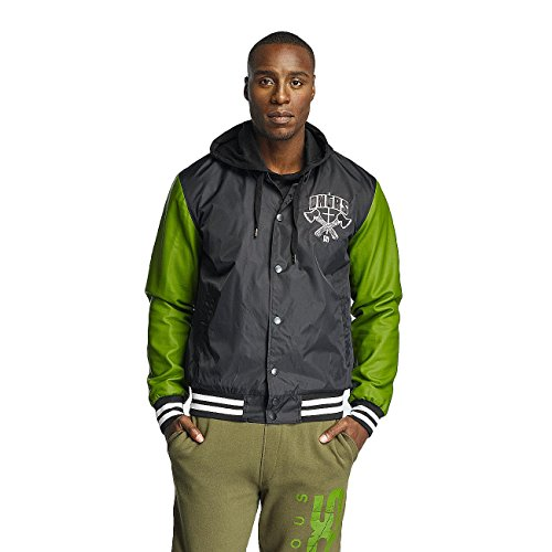 Dangerous DNGRS Herren Jacken / College Jacke Peace out Olive