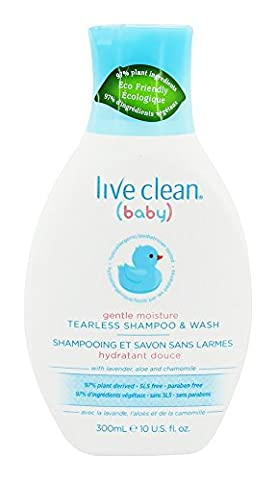 Live Clean - Baby Gentle Moisture Tearless Shampoo & Wash with Lavender, Aloe and Chamomile - 10