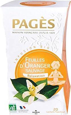 PAGÈS Infusion Oranger 20 Sachets - Lot de 4