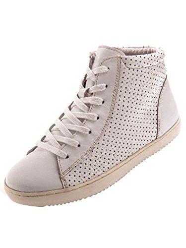 Balsamik Sneakers Montants Grande Largeur - Femme Blanc