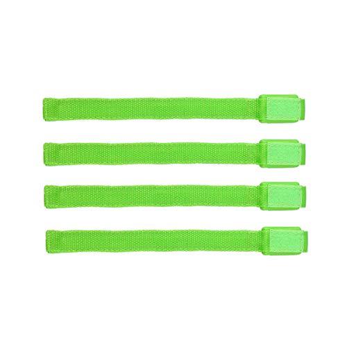 r Snap Armband Reflective LED Leucht Armbänder Nacht Sicherheits Licht für Sport 4 Stück (Grün Licht) ()